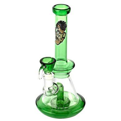 Skleněný bong s perkolací Amsterdam SB green, 22cm(HG15G)