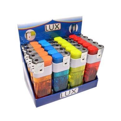 Zapalovač Lux Maxi Piezo Transparent + Light(20280)