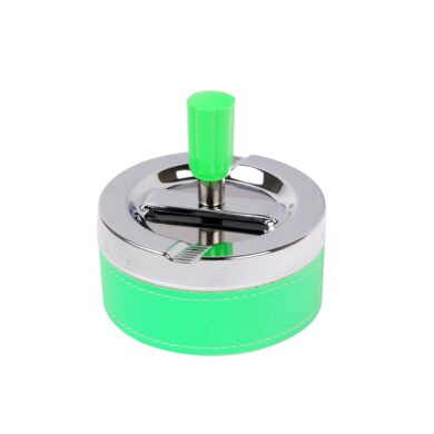 Cigaretový popelník otočný Neon zelený, kovový(22312)