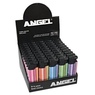 Zapalovač Angel Turbo Stripes colored  (260001)