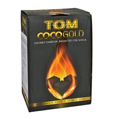Uhlíky do vodní dýmky Tom Cococha Gold, kokosové, dlouhohořící, 1kg(38004G)
