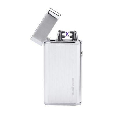 USB zapalovač Silver Match Balham 2ARC, el. oblouk, chromový(674196)