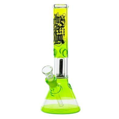 Skleněný bong s perkolací Amsterdam G/Y Ice 30cm zelenožlutý(02911GY)
