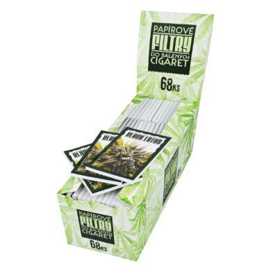 Papírové filtry do balených cigaret, 68ks(312)