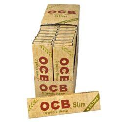 Cigaretové papírky OCB Slim Organic + Filters-Cigaretové papírky OCB Slim Organic +Filters. Ultratenký konopný papír. Knížečka 32 papírků + 32 filtrů. Prodej pouze po celém balení (displej) 32 ks.