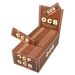 Cigaretové papírky OCB Virgin Single-Cigaretové papírky OCB Virgin Single. Papírky jsou vyrobené z ultratenkého neběleného papíru. Knížečka obsahuje 50 papírků. Rozměry papírku: 36x69mm. Prodej pouze po celém balení (displej) 50ks.