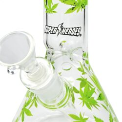Skleněný bong Super Heroes Green Leaves Ice 30cm  (345754)