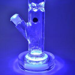 Skleněný bong s perkolací Grace Glass Crystal Series Straight LED III Ice 42cm(G162)