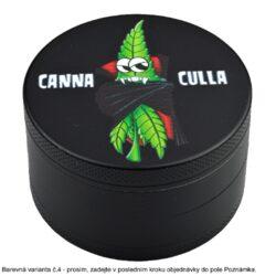 Drtič tabáku kovový WildFire Cannaclown 60mm, 6mix(31210)