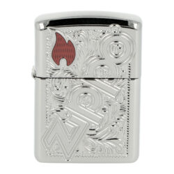 Zapalovač Zippo Logo & Flame, lesklý(Z 151198)