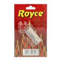 Kamínky do zapalovače + knot Royce-Kamínky a knoty Royce do benzínových zapalovačů. Jedno balení - plastový zásobník obsahuje 7 kamínků do zapalovače a knot s drátkem o délce cca 10cm, jehož délku si upravíte dle potřeby. Cena je uvedena za jedno balení(blistr).