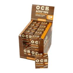 Cigaretové filtry OCB Virgin Activ Tips Slim 7mm, charcoal(06500)