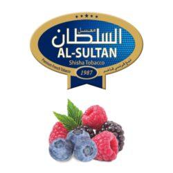 Tabák do vodní dýmky Al-Sultan Berry Land (7), 50g/Z-Tabák do vodní dýmky Al-Sultan Berry Land s příchutí lesního ovoce. Tabáky Al-Sultan vyráběné v Jordánsku jsou známé svojí šťavnatostí, skvělou vůní, chutí a bohatým dýmem. Tabák do vodní dýmky je dodávaný v papírové krabičce po 50g.