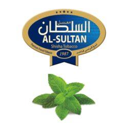 Tabák do vodní dýmky Al-Sultan Mint (63), 50g/Z-Tabák do vodní dýmky Al-Sultan Mint s příchutí máty. Tabáky Al-Sultan vyráběné v Jordánsku jsou známé svojí šťavnatostí, skvělou vůní, chutí a bohatým dýmem. Tabák do vodní dýmky je dodávaný v papírové krabičce po 50g.