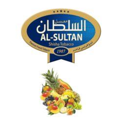 Tabák do vodní dýmky Al-Sultan Coctail (64), 50g/Z-Tabák do vodní dýmky Al-Sultan Coctail s příchutí ovocného koktejlu. Tabáky Al-Sultan vyráběné v Jordánsku jsou známé svojí šťavnatostí, skvělou vůní, chutí a bohatým dýmem. Tabák do vodní dýmky je dodávaný v papírové krabičce po 50g.