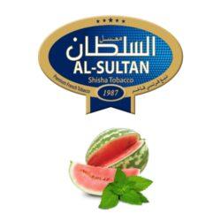 Tabák do vodní dýmky Al-Sultan Watermelon+Mint (84), 50g/Z-Tabák do vodní dýmky Al-Sultan Watermelon+Mint s příchutí melounu a máty. Tabáky Al-Sultan vyráběné v Jordánsku jsou známé svojí šťavnatostí, skvělou vůní, chutí a bohatým dýmem. Tabák do vodní dýmky je dodávaný v papírové krabičce po 50g.