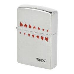 Zapalovač Zippo 200 ATC Flames, broušený(Z 216888)