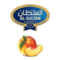 Tabák do vodní dýmky Al-Sultan Peach (70), 50g/F-Tabák do vodní dýmky Al-Sultan Peach s příchutí broskve. Tabáky Al-Sultan vyráběné v Jordánsku jsou známé svojí šťavnatostí, skvělou vůní, chutí a bohatým dýmem. Tabák do vodní dýmky je dodávaný v papírové krabičce po 50g.