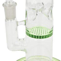 Skleněný bong s perkolací Ice Honey Green, 25cm(991847-37)