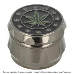 Drtič tabáku kovový Wildfire Weed Leaf, 55mm(31187)