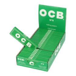 Cigaretové papírky OCB 8-Cigaretové papírky OCB 8. Knížečka obsahuje 50ks papírků se seříznutými rohy. Rozměry papírku: 36x69mm. Prodej pouze po celém balení (displej) 50ks. Cena je uvedená za 1ks.