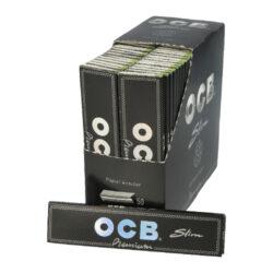 Cigaretové papírky OCB Slim Premium-Cigaretové papírky OCB Slim PREMIUM s hologramem. Knížečka obsahuje 32 papírků. Rozměry papírku: 44x109mm. Prodej pouze po celém balení (displej) 50ks. Cena je uvedená za 1ks.
