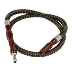 Náhradní hadice (šlauch) SHISHA pro vodní dýmku, 1m-Náhradní hadice (šlauch) pro vodní dýmky. Šlauch SHISHA s černým textilním povrchem je kompletní včetně náustku a adaptéru pro připojení do vodní dýmky. Vnější minimální průměr zasouvací kónické části do vodní dýmky je 1,1 cm, maximální 1,6 cm. Hadice je vyrobena z gumy, náustek a adaptér z tvrzeného plastu. Údržba je velmi jednoduchá, ke zbavení nečistot stačí propláchnutí obyčejnou vodou.   Celková délka hadice včetně adaptéru a náustku: 100 cm Délka samotné hadice: 79 cm