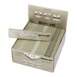 Cigaretové papírky OCB X-Pert Slim Fit-Cigaretové papírky OCB X-Pert Slim Fit. Papírky jsou vyrobené z ultratenkého papíru velikosti XS. Knížečka obsahuje 32 papírků. Rozměry papírku: 40x109mm. Prodej pouze po celém balení (displej) 50ks. Cena je uvedená za 1ks.