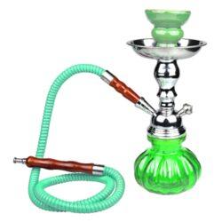 Vodní dýmka Lotus 25cm zelená-Vodní dýmka Lotus. Malá vodní dýmka vysoká 25cm má jeden šlauch. Barva vodní dýmky zelená. Vodní dýmka je dodávána s příslušenstvím.
