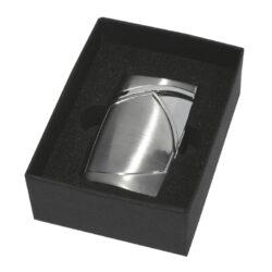 Tryskový zapalovač Eurojet Monza, stříbrný(251850)