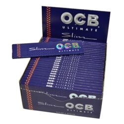 Cigaretové papírky OCB Ultimate Slim-Cigaretové papírky OCB Ultimate Slim. Nejlehčí papírky s váhou pouze 10g/m2 pro ještě větší požitek. Knížečka 32 papírků. Prodej pouze po celém balení (displej) 50 ks.