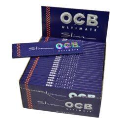 Cigaretové papírky OCB Ultimate Slim-Cigaretové papírky OCB Ultimate Slim. Nejlehčí papírky s váhou pouze 10g/m2 pro ještě větší požitek. Knížečka obsahuje 32 papírků. Rozměry papírku: 45x109mm. Prodej pouze po celém balení (displej) 50ks.