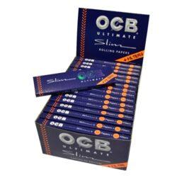 Cigaretové papírky OCB Ultimate Slim+Filters-Cigaretové papírky OCB Ultimate Slim+Filters. Nejlehčí papírky s váhou pouze 10g/m2 pro ještě větší požitek. Knížečka 32 papírků + 32 filtrů. Prodej pouze po celém balení (displej) 32 ks.