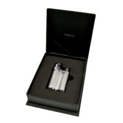 Tryskový zapalovač Siglo Bean Shape, stříbrný(10450D)