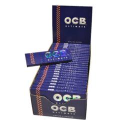 Cigaretové papírky OCB Ultimate Single-Cigaretové papírky OCB Ultimate Single. Nejlehčí papírky s váhou pouze 10g/m2 pro ještě větší požitek. Knížečka obsahuje 50 papírků. Rozměry papírku: 36x69mm. Prodej pouze po celém balení (displej) 50ks. Cena je uvedená za 1ks.