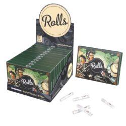 Cigaretové filtry Rolls VIP XL-Cigaretové filtry Rolls - chytré filtry pro balení cigaret. Průměr filtru je 5,8mm. Balení obsahuje 80 ks filtrů.