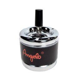 Cigaretový popelník otočný Angelo, kovový-Nejen venkovní cigaretový popelník otočný Angelo. Samozhášecí kovový popelník na cigarety v různobarevném provedení kombinovaný s chromem. Průměr popelníku 7,5 cm, celková výška 11,5 cm. Cena je uvedena za 1ks. Před odesláním objednávky uveďte číslo barevného provedení do poznámky.