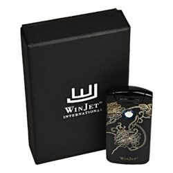 USB zapalovač Winjet Arc Flowers el. oblouk, černý(221004)