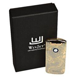 USB zapalovač Winjet Arc Flowers el. oblouk, zlatý(221005)