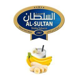Tabák do vodní dýmky Al-Sultan Banana&milk (6), 50g/V-Tabák do vodní dýmky Al-Sultan Banana & Milk s příchutí banánu. Balení po 50 g.