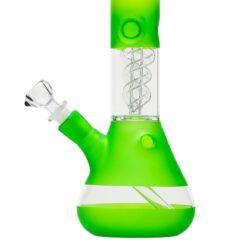 Skleněný bong s perkolací Amsterdam G/Y Ice 37cm zelenožlutý(02917GY)