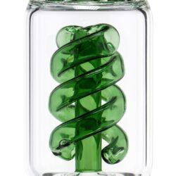 Skleněný bong s perkolací Grace Glass Spiral Ice 46cm, zelený(G207G)