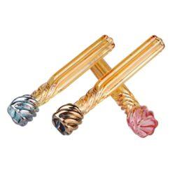 Šlukovka skleněná HM barevná, mix-Skleněná šlukovka HM. Čirá rovná skleněnka v barevném provedení. Šlukovka je vyráběna ručně v ČR. Délka 7,9 cm. Cena je uvedena za prodejní balení - 1 ks.