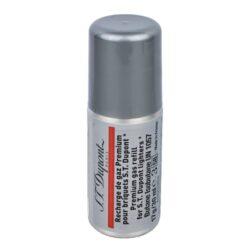 Plyn do zapalovače S.T. DuPont, červený-Prémiový plyn do zapalovače S.T. DuPont. Tento plyn je určen pro stolní zapalovače S.T. DuPont Jéroboam a cylindrické stolní zapalovače. Plnicí hrot je plastový. Z jednoho balení plynu S.T. DuPont naplníte zapalovač 3 - 8krát dle typu. Balení 30ml.  Rozměry: Plnící hrot - vnější průměr/vnitřní průměr: 3mm/1,8mm Výška plynové náplně s víčkem: 100mm Výška bez víčka včetně plnícího hrotu: 90mm Průměr náplně: 35mm