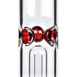 Skleněný bong s perkolací Grace Glass Big Baked Beaker Ice červený 56cm(G1534R)