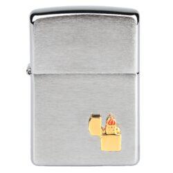 Zapalovač Zippo Chrome brush Emblem, broušený(Z 151630)